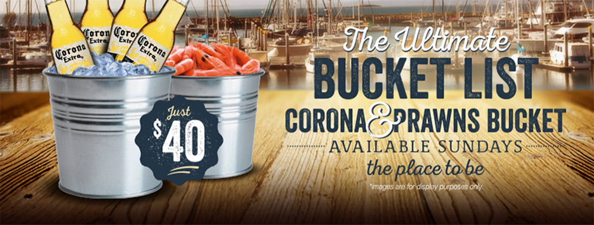 Corona and Prawns Bucket - Moreton Bay Trailer Boat Club - Manly, Brisbane
