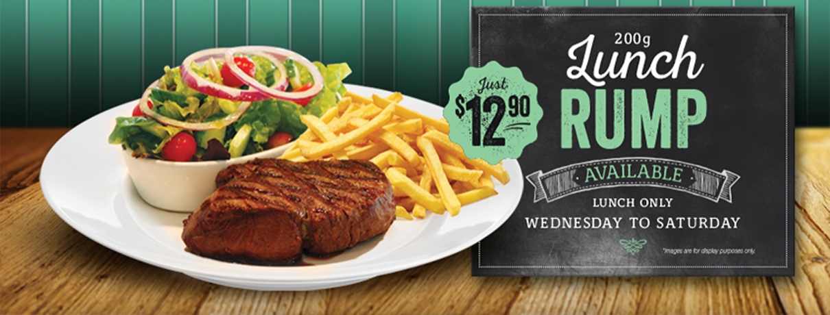 Lunch Rump - Wednesday to Saturday - Moreton Bay Trailer Boat Club - Manly, Brisbane